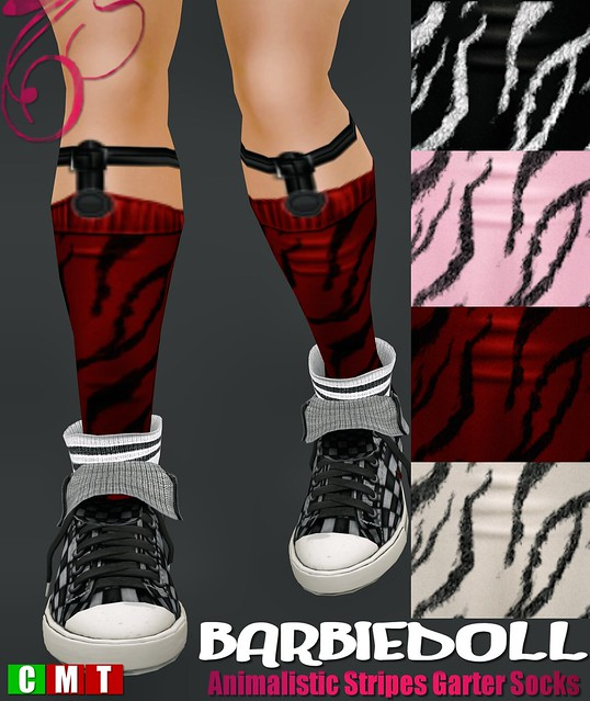 BARBIEDOLL Animalistic Stripes Garter Socks