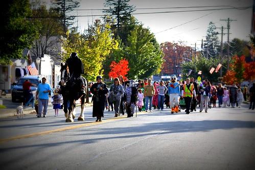 The Halloween Parade Walks Up Windermere