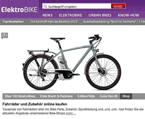 Pedelecs, E-Bikes, Urban Biking bei elektrobike-online.com