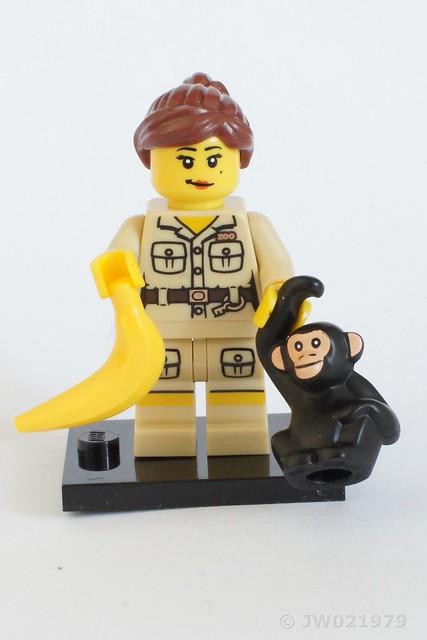 Lego Zookeeper Minifigure with monkey