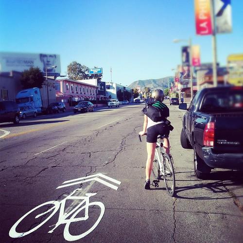 Nadia on-bike