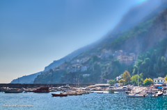 (Sienar) Tags: trip travel trees friends vacation sky italy mountain blur color fall water 35mm landscape boats photography coast nikon focus europe day bokeh eurotrip nikkor hdr highdynamicrange amalfi salerno goodtimes d300 tiltshift 2011 18 chrisacua