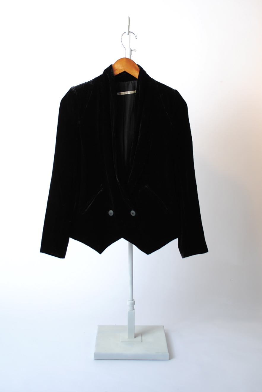 Double Button Velvet Jacket