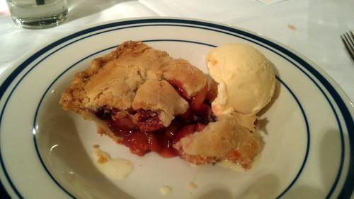 Fruit Cobbler w ice cream