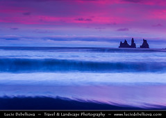 Iceland - Reynisdrangar - Rock Formation on the Beach at Sunset ( Lucie Debelkova / www.luciedebelkova.com) Tags: world trip travel vacation holiday tourism beach beautiful sunrise wonderful iceland nice fantastic perfect europe tour place awesome north sightseeing visit location tourist best journey stunning destination nordic sight traveling lovely visiting exploration incredible touring breathtaking icelandic reynisdrangar luciedebelkova wwwluciedebelkovacom luciedebelkovaphotography blackrockformation