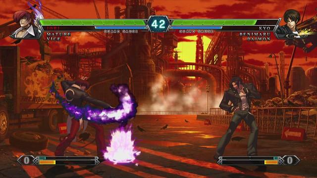 The King of Fighters XIII para PS3: Iori com o Poder das Chamas
