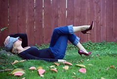 enjoying the ride (catklein) Tags: me happy heels redpumps layinginthegrass