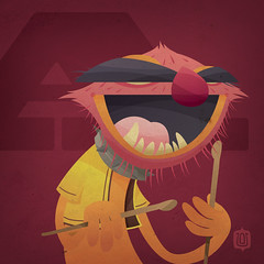 Muppabet_Animal (David Vordtriede) Tags: david animal muppets disney jimhenson themuppets muppabet stinkyham dwv74 vordtriede