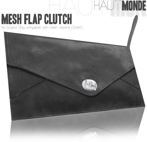 Haut Monde - Mesh Flap Clutch