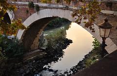 The Pons Fabricius, Rome (Bochum1805) Tags: bridge autumn brick island roman bricks tiber bro campusmartius brücke travertine tiberisland pontedeiquattrocapi stenkonservering