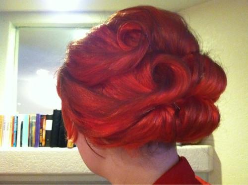My Joan Holloway hair