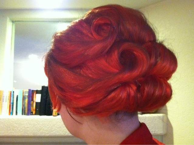 My Joan Holloway hair