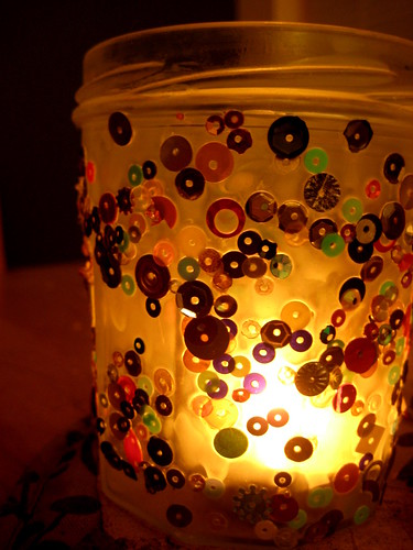 Jam Jar Candle Holder Craft