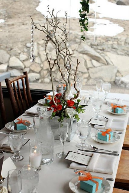 winter wedding table ideas