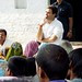 Rahul Gandhi interacting with villagers of Mirzapur at a chaupal