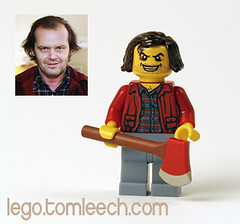 Jack Torrance (The Shining) (tomleech) Tags: shirt hair jack king lego kubrick mini stephen jacket stanley figure johnny axe decal minifig custom plaid shining heres torrance sculpt kneadatite
