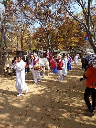 Wedding ceremony parade