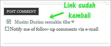 Link CommentLuv sudah kembali