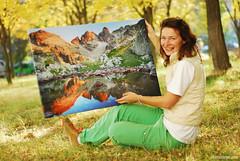 happy little soul .. my first print on canvas ; ) (.:: Maya ::.) Tags: mountain print landscape photography maya sale bulgaria мая mayaeye къркаличева karkalicheva wwwmayaeyecom