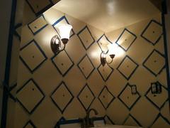 The Entire Wall - Ready for Paint! (ScotchBlue) Tags: lighting bathroom paint painterstape scotchblue diamondpattern scotchbluepainterstape