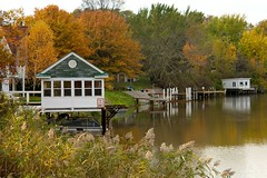 Boathouse (Mud Creek Photo) Tags: autumn fall stclair boathouse riverscene
