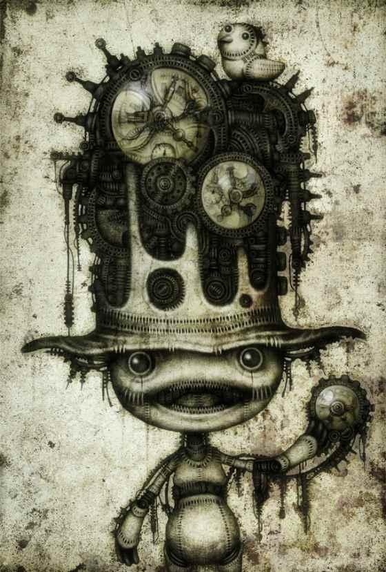 ilustración futurista
