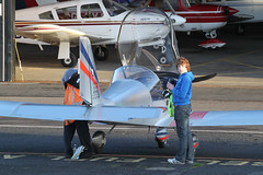 G-CDAP - BW & SP after the flight (egcc) Tags: manchester 912 eurostar barton microlight rotax cityairport ev97 2114 cosmik mainair aerotechnik egcb gcdap