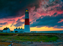 Stormy Sunrise (Thornberry!) Tags: lighthouse clouds sunrise stormy dorset portlandbill