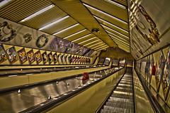 Metro Escalator (brianbge) Tags: monument newcastle metro escalator