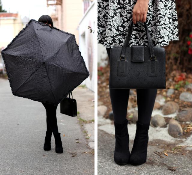umbrella and purse
