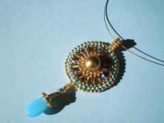 Hatshepsuts Sheild Brick Stitch Pendant (Cassandra.Elizabeth.Beads) Tags: jewelry jewellery beading pendant beadwork seedbeads beadweaving