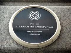 Photo of Banastre Tarleton black plaque