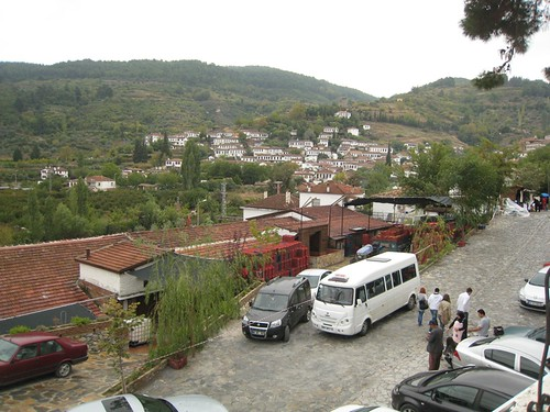 Sirince village spilling up over the hillside