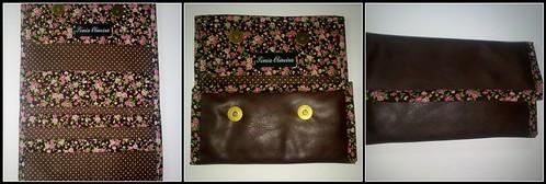 Carteira em sintético por fora com tecidos no interior by ♥Linhas Arrojadas Atelier de costura♥Sonyaxana