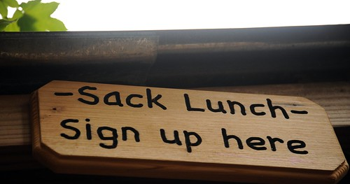 Sack Lunch, Sign up here, Breitenbush Hot Springs, Breitenbush, Marion County, Oregon, USA by Wonderlane