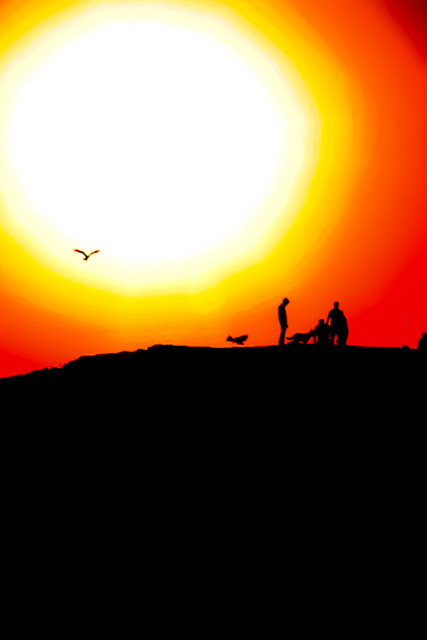 Travel Photo Roulette:  A poetic sunset in Jodhpur, India. Copyright by TenTimesOne.com