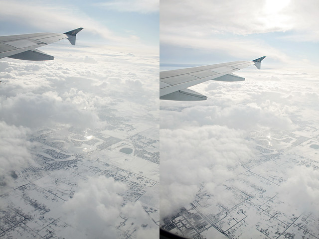 airplane window diptych 9
