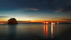 #850C6002- Starry evening (crimsonbelt) Tags: sunset beach reflections evening slowshutter starry balikpapan melawai