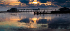 Worthing pier at sunset (richheath) Tags: sunset reflections pier worthing ep1