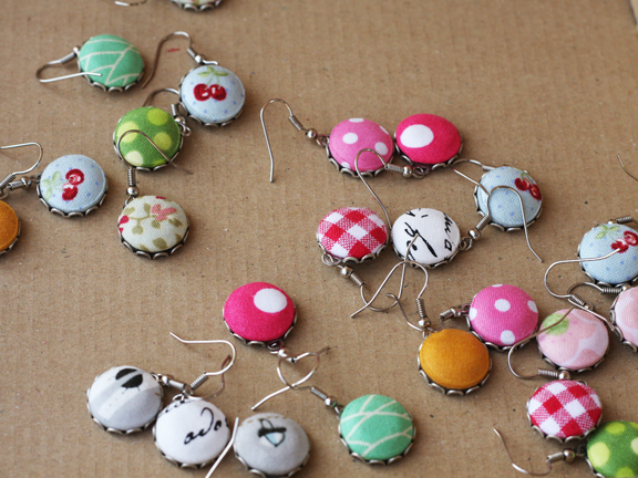 button earrings lot