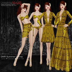 DNR Summer Donna Square Posters Gold (designingnickyree) Tags: bikini dresses gowns sarongskirt nickyree slfashion resortfashion