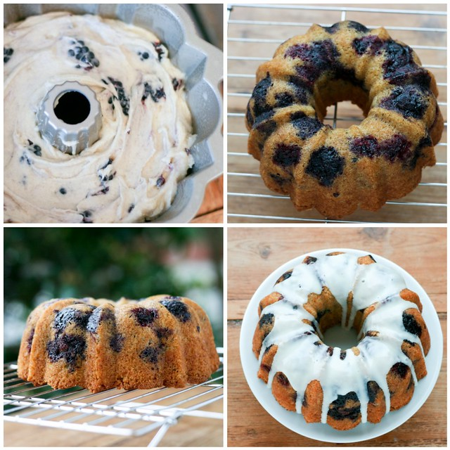 Blackberry Bundt collage