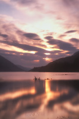 The light of the Hills.. (lordoye) Tags: longexposure sunset mountains clouds reflections geese highlands sticks scottish hills glenfinnan fortwilliam glenfinnanmonument nd110