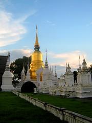 Chiang Mai Stupa (tom_2014) Tags: tower thailand temple gold golden shrine asia southeastasia buddha stupa buddhist religion buddhism landmark thai chiangmai siam buddhisttemple chedi goldenchedi goldenstupa