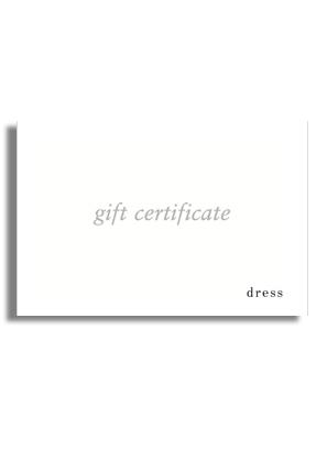 Dress Gift Certificate