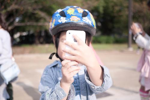 iPhone4Sで撮影中