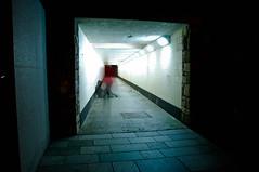 Memories Fade (bethany smith.) Tags: longexposure light portrait blur night photoshop underpass subway lights alley nikon plymouth overlay nighttime walkway alleyway multiple fade layers lightroom indistinct 2011 d90 nikond90 lightroom3