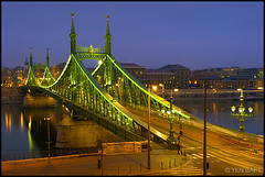Budapest - Liberty Bridge | Szabadsg Hd (Yen Baet) Tags: city travel bridge urban art water river europe hungary cityscape waterfront view riverside dusk budapest scenic landmark icon tourist duna iconic metropolitan danuberiver donau hungarian waterscape magyarorszg centraleurope freedombridge gellerthill libertybridge europeancities emperorfranzjoseph europeancapital magyarorszg
