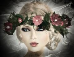 Vivien Emerald (Vivien Emerald - Dsir CEO -) Tags: flowers flower fashion silver vanity headshot romance diamond sl blond daisy romantic earrings lipstick modelling emerald vivien slfashion slmodel vanityhair lelutka virtualimpression vivienemerald xiafirethorn
