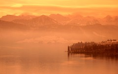 Alpine dawn (snowyturner) Tags: morning lake mountains alps water sunrise reflections landscape dawn switzerland luzern alpine lucerne lorraine